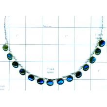 Silver Bezel Necklace-jsk2n027