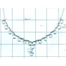 Silver Bezel Necklace-jsk2n029