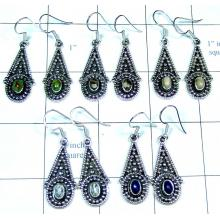 5 Cab stone Earrings-jye173