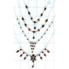 Wholesale silver gems Necklaces-jyn005
