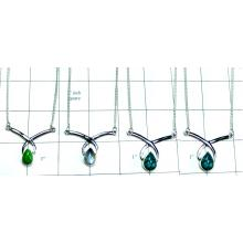 4 Pcs Sterling silver Necklaces-jyn009