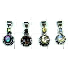 Semiprecious silver india Pendants-4pcs-jyp163