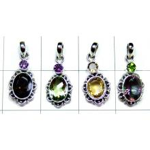 Oxodized silver Pendants-4pcs-jyp172