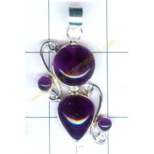 Silver exclusive amethyst pendent-nscsp170