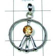 Silver Color gemstone Pendant-ss4p379