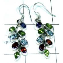 Classic silver color gems Earring-ss5e017