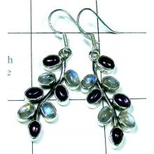 Classic silver color gems Earring-ss5e019