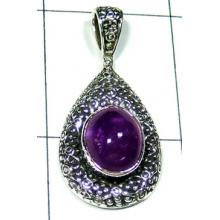 Sterling silver Amethyst Casting Pendant-ss5p303