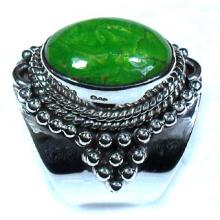 Mohave green Turquoise gems Ring-ss5r075