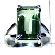 Green Amethyst cut Ring-ss5r092