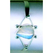 Silver wholesale gem stone bangle collection-w8bb004
