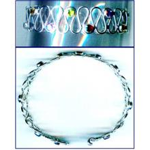 Silver wholesale gem stone bangle collection-w8bb018