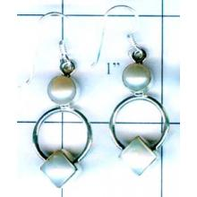 Silver export collection gem stone earring-w8e010