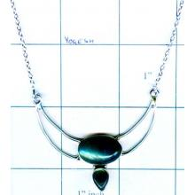 Silver gem stone necklace collection-w8n016