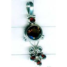 Oxodized Sterling silver Pendant-w9p293