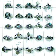 500 Gram wholesale Labradorite Rings-wljsr010