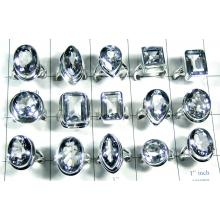 Wholesale silver Crystal quartz Rings-wljsr029